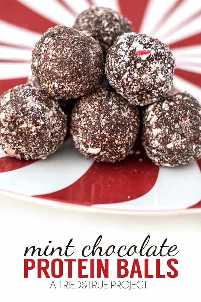 Satisfy your sweet tooth with these Healthy Peppermint Chocolate Protein Balls! They're raw, vegan, low-sugar, gluten-free, and delicious!