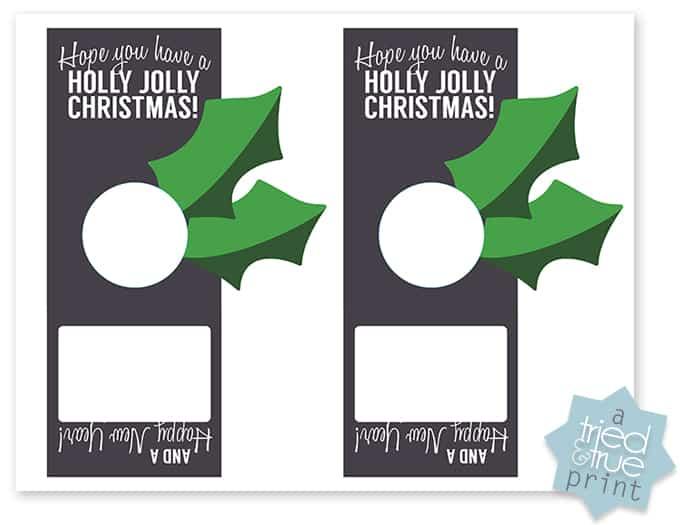 Last Minute Lip Balm Christmas Gift - Print