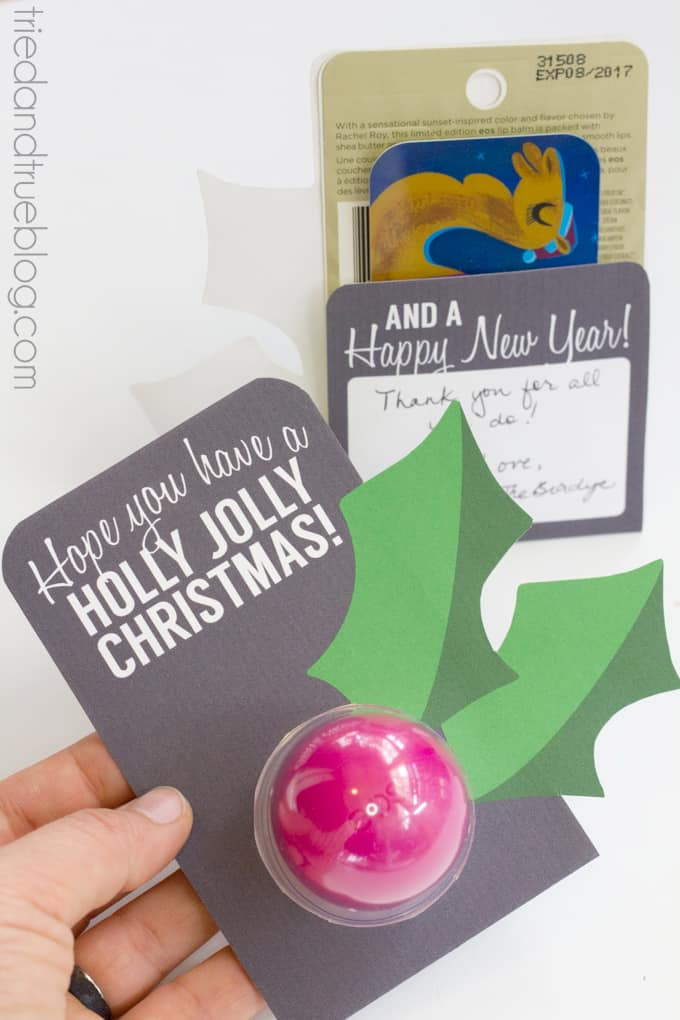 Last Minute Lip Balm Christmas Gift - Gift Card