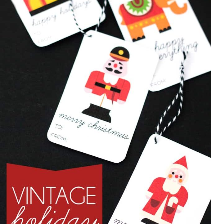 Vintage Holiday Gift Tags - Four different types of gift tags to fit any occasion!