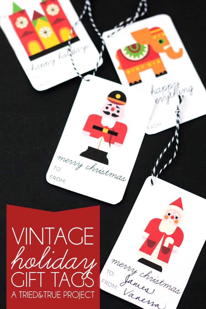 Vintage Holiday Gift Tags - Free printable that comes in three different sentiments to match any occasion!