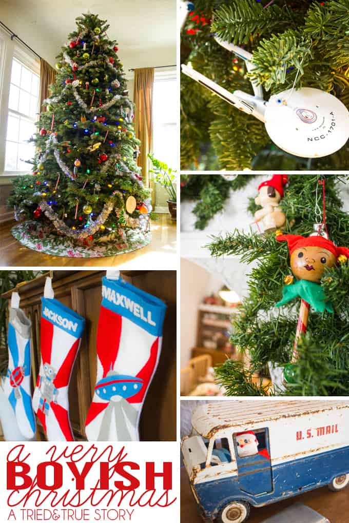 A Very Boyish Christmas - Remembering the reason we decorate for the holidays!