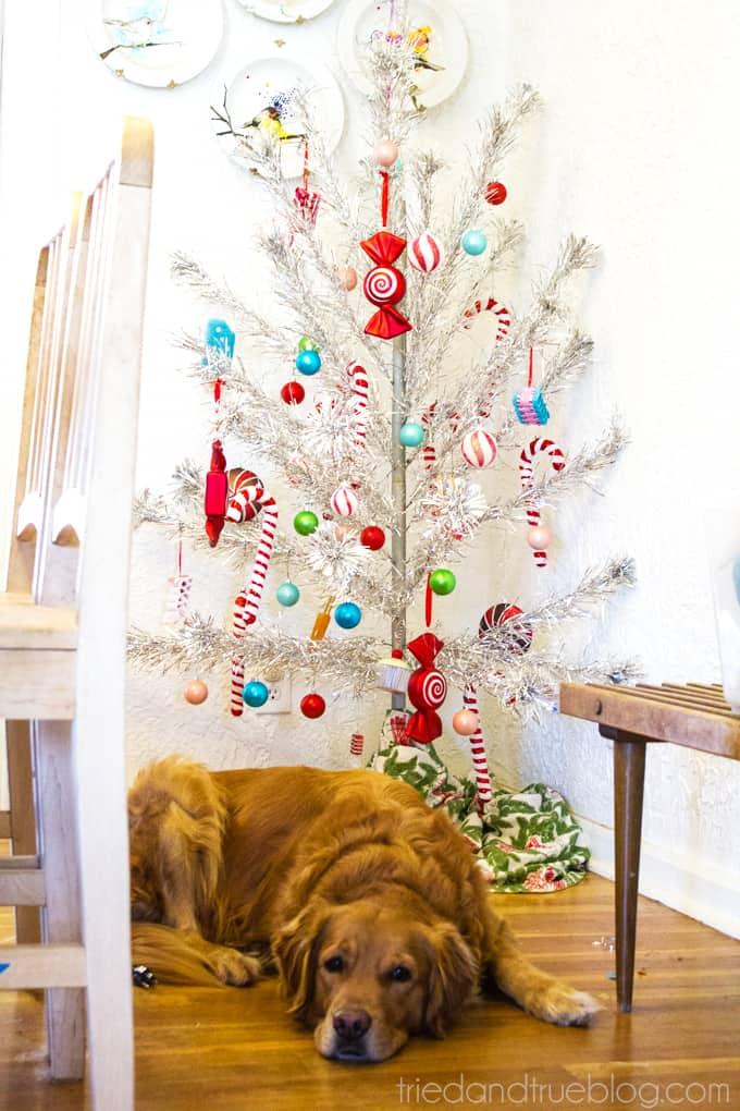 A Very Boyish Christmas Home Tour - Candy Tree