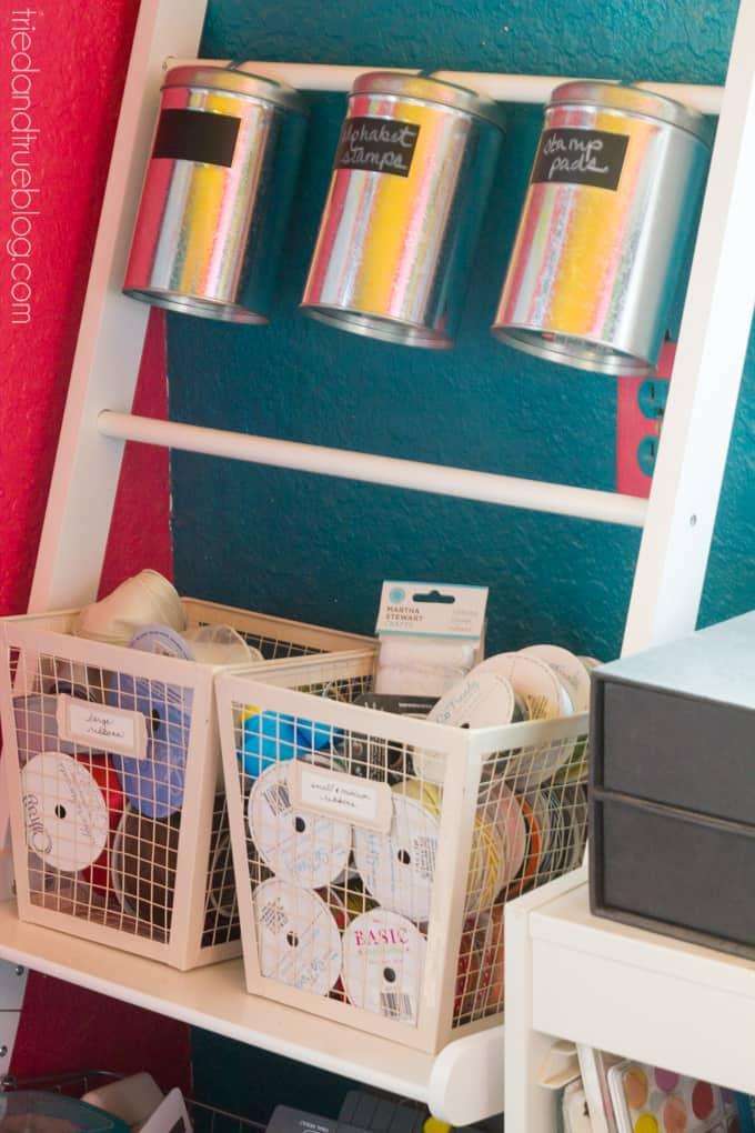 Teeny Tiny Craft Room Part 2 - Organized