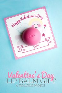 Use this free printable label to make this super cute (and inexpensive!) Lip Balm Valentine's Day Gift!