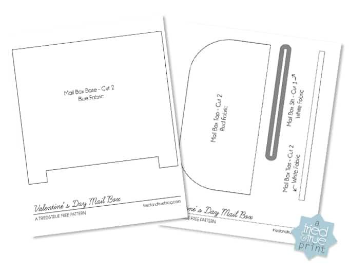 Valentine's Day Mailbox Free Pattern - Pattern