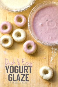 Quick and Easy Donut Yogurt Glaze - A healthier alternative to a pure sugar glaze!