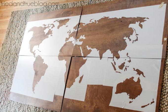 World Map Wall Art DIY - Silhouette