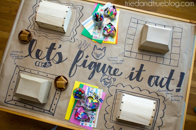 Planning An After School Craft Party - Table Set-Up