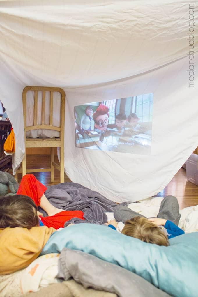 5 Fun Projector Activities for Kids - Fort Movie