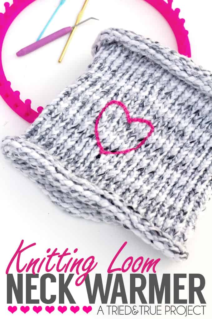 Don't know how to knit? No problem! Make this easy Knitting Loom Neck Warmer with absolutely no experience necessary. | triedandtrueblog.com