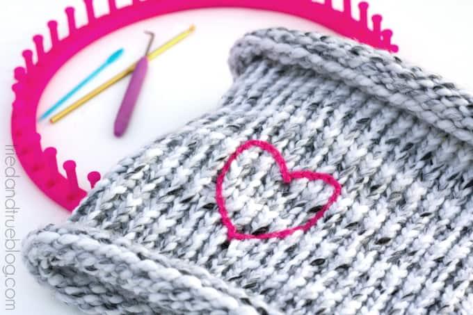 Knitting Loom Neck Warmer - Embellishment