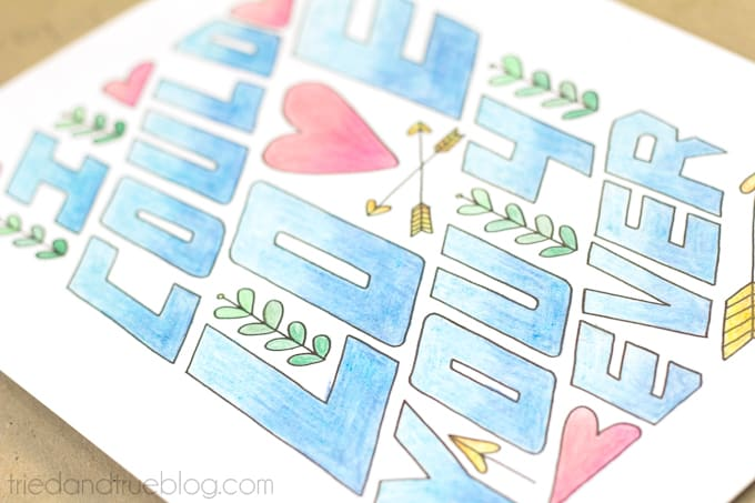 """""""Love You Forever"""" Free Coloring Print - All Done!"""