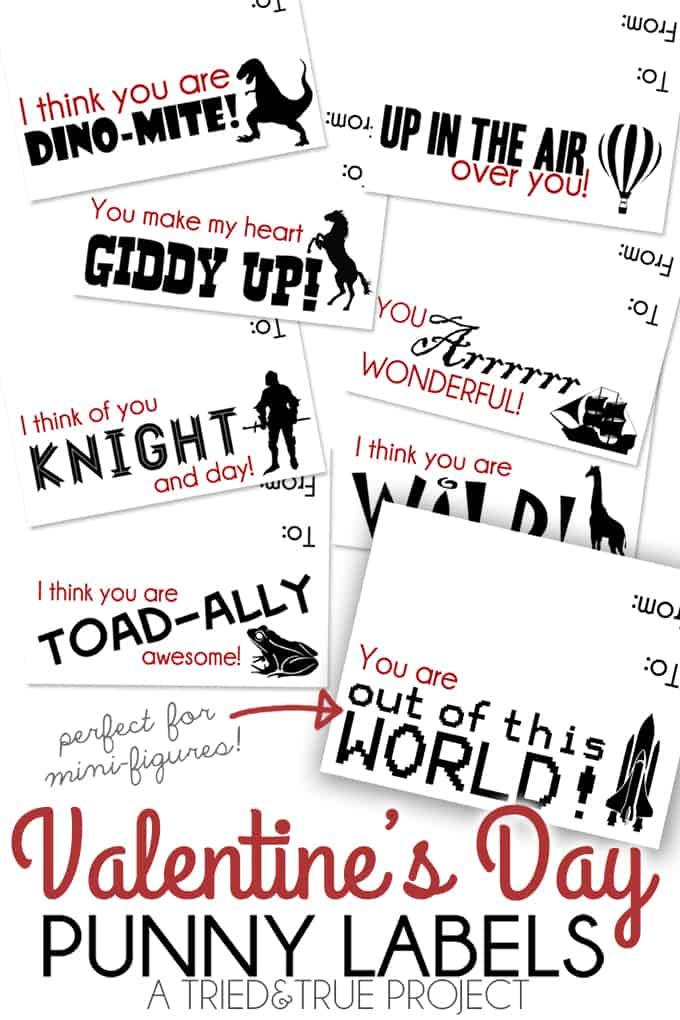 Punny Valentine Labels - Labels