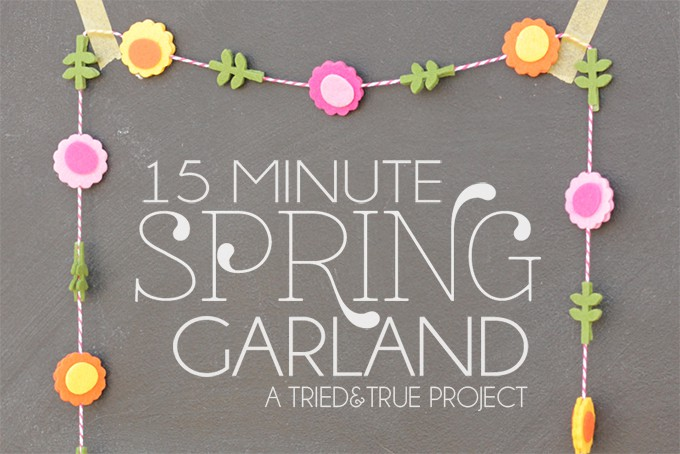 This 15 Minute Spring Garland is a breeze to put together and customize!