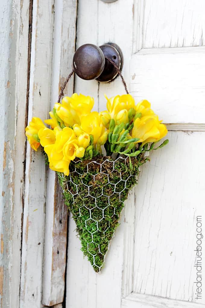 DIY Floral Wall Sconces - Hang