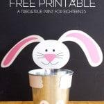 Easter Bunny Tin Free Printable