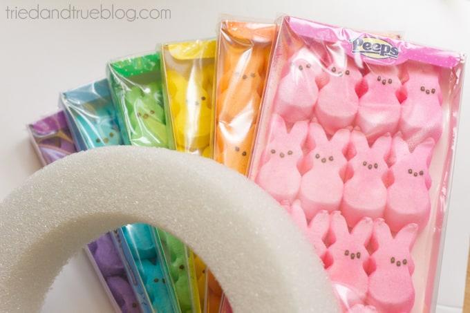 Rainbow Bunny Peeps® Wreath - Supplies