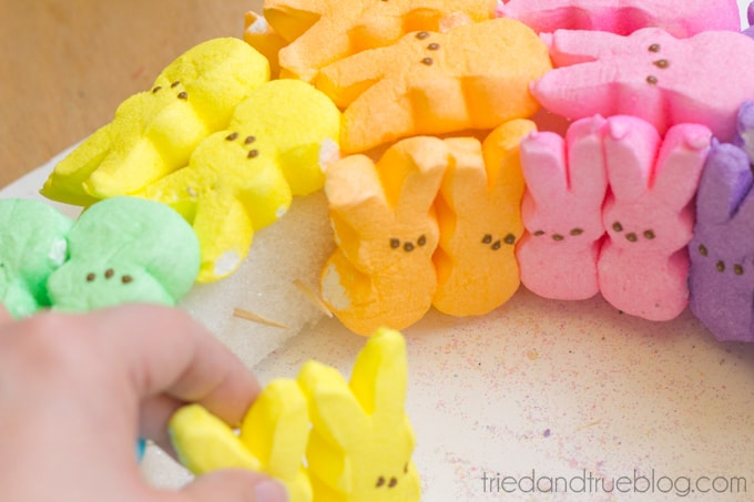 Rainbow Bunny Peeps® Wreath - Inner Ring
