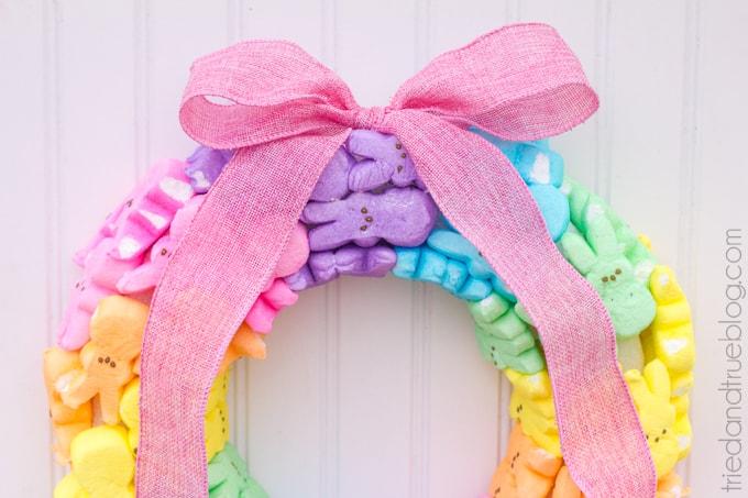 Rainbow Bunny Peeps® Wreath - Colorful