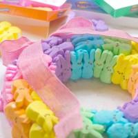 Rainbow Bunny Peeps® Wreath - Done!