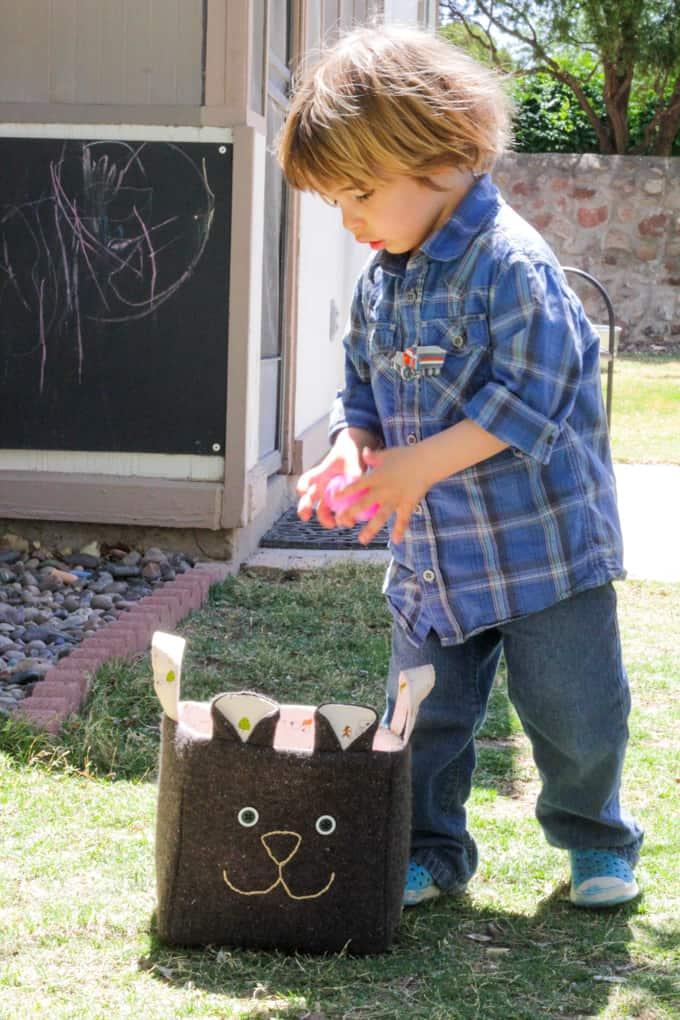 Recycled Easter Basket - Found Eggs!