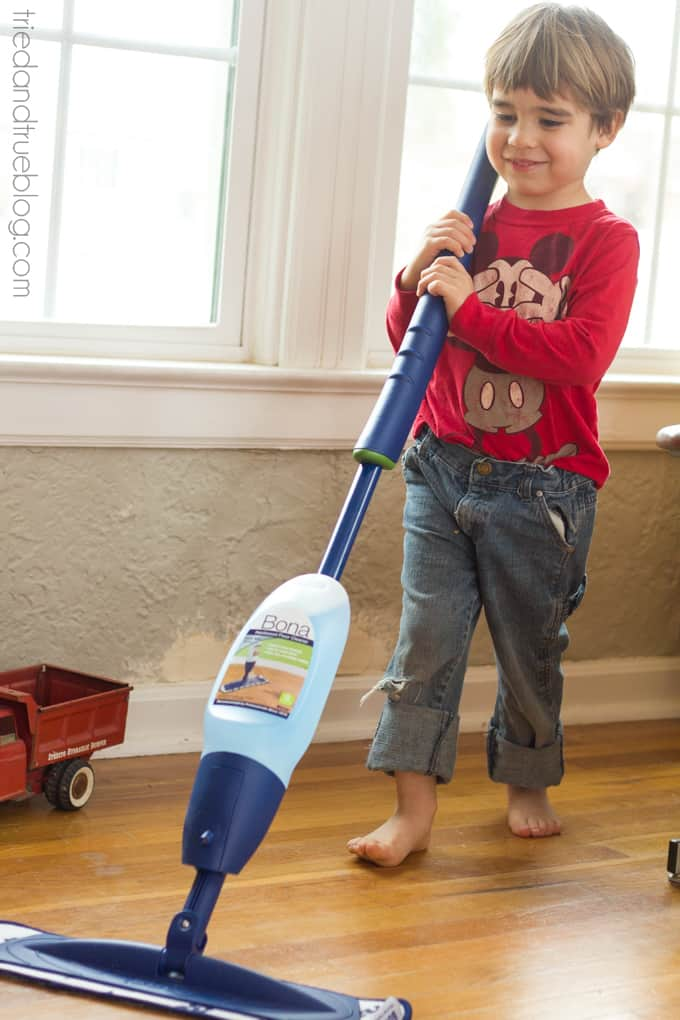 Spring Cleaning with Small Children - Floors