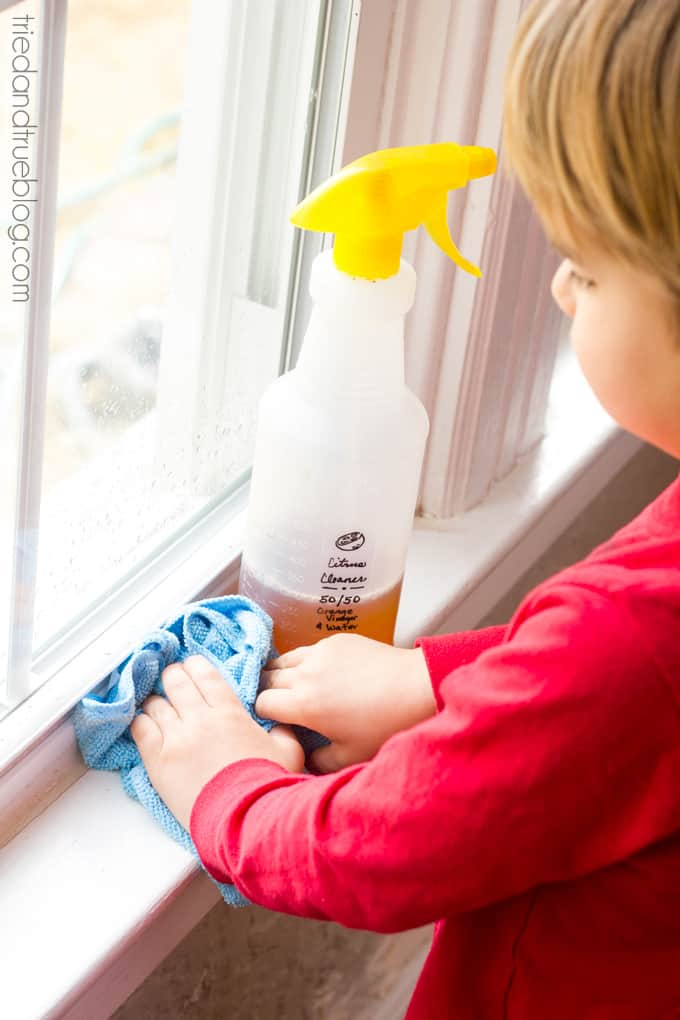 Spring Cleaning with Small Children - Windowsills