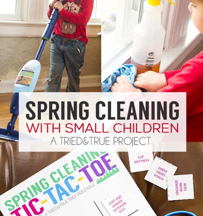 Trying to do Spring Cleaning with Small Children? Use this handy Tic-Tac-Toe game to make it fun!