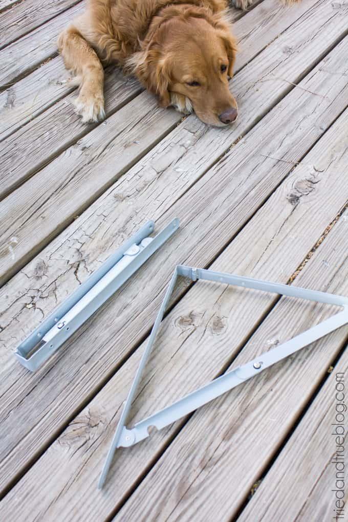 Outdoor Folding Bar Shelf - Hardware