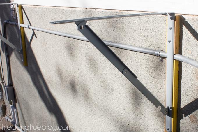 Outdoor Folding Bar Shelf - Attach