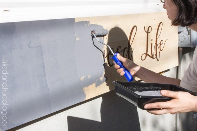 Outdoor Folding Bar Shelf - Paint