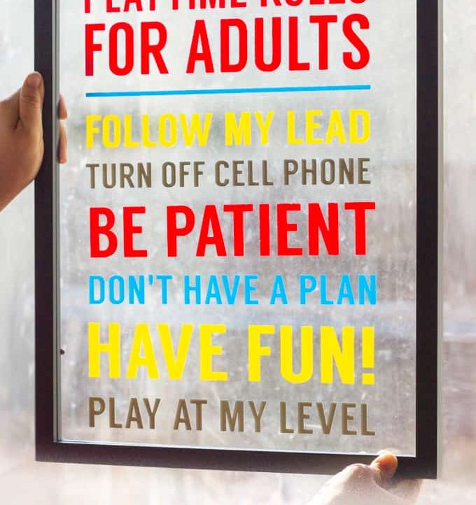 Playtime Rules for Adults - A Tried & True Project