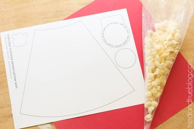 Popcorn Teacher Appreciation Gift - Materials