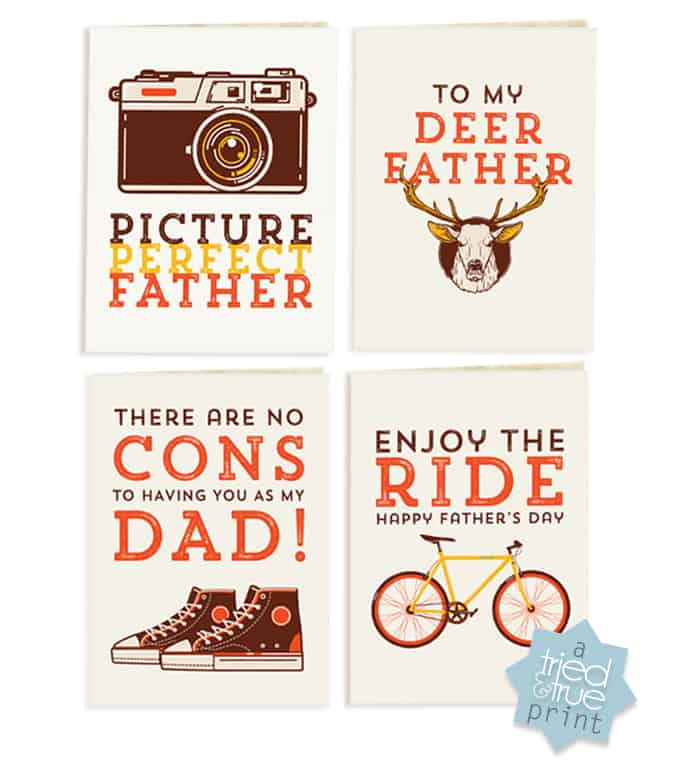 Hipster Father's Day Cards - Free Printables