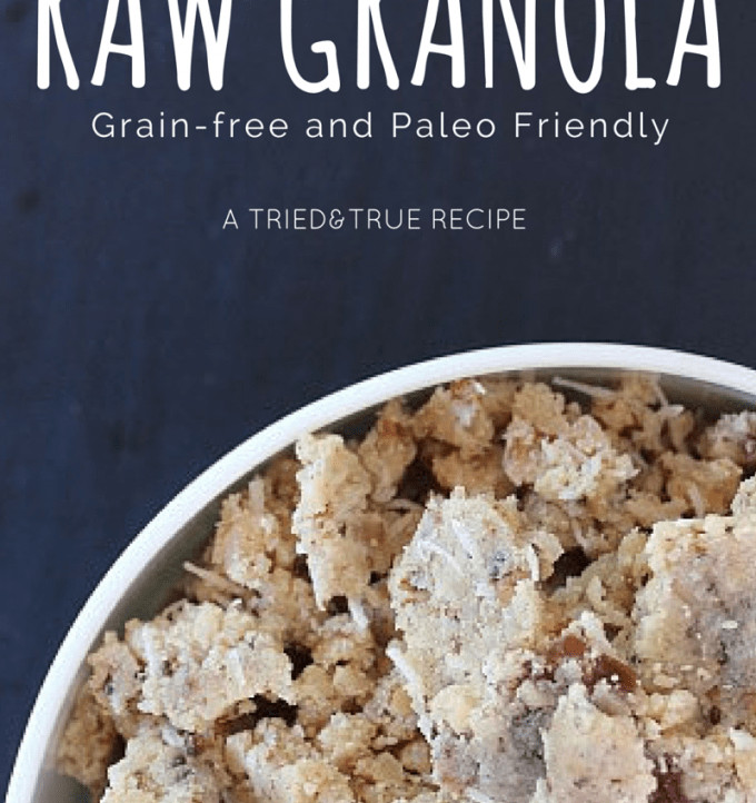 A Grain-Free and Paleo Friendly Raw Granola! Absolutely amazing for breakfast or a snack!