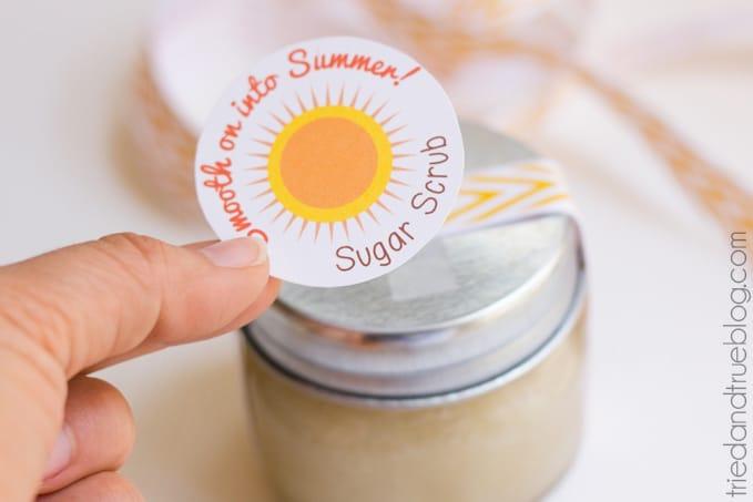 Instant Summer Sugar Scrub - Label