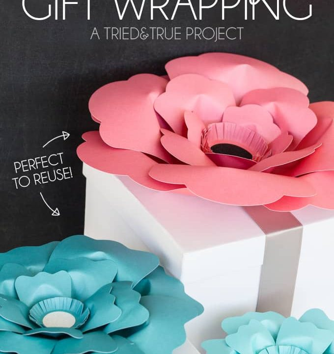 Looking for a simple and gorgeous way to wrap wedding or baby shower gifts? Forget about a bow, just put a flower on it!