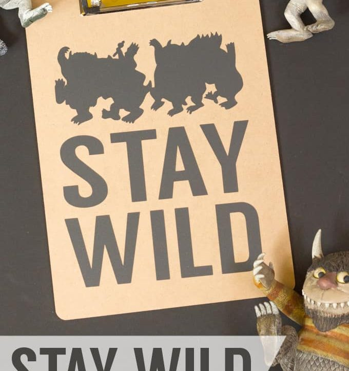"""Make this easy """"Stay Wild"""" Teacher Appreciation Gift for all the special teachers in your child's life!"""