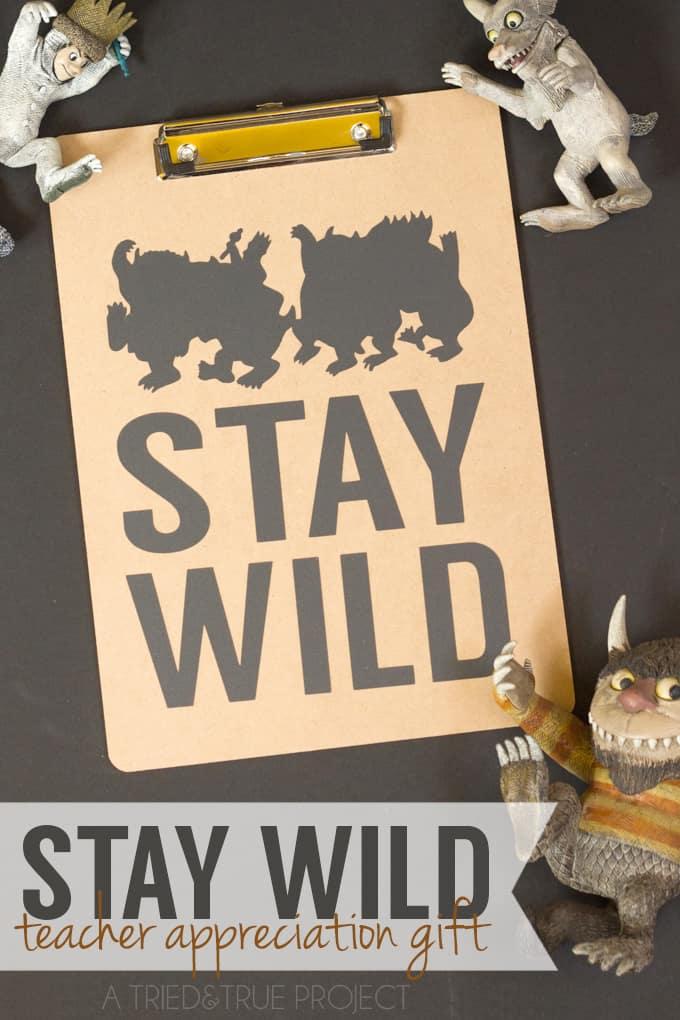 """Stay Wild"" Teacher Appreciation Gift - Pens"