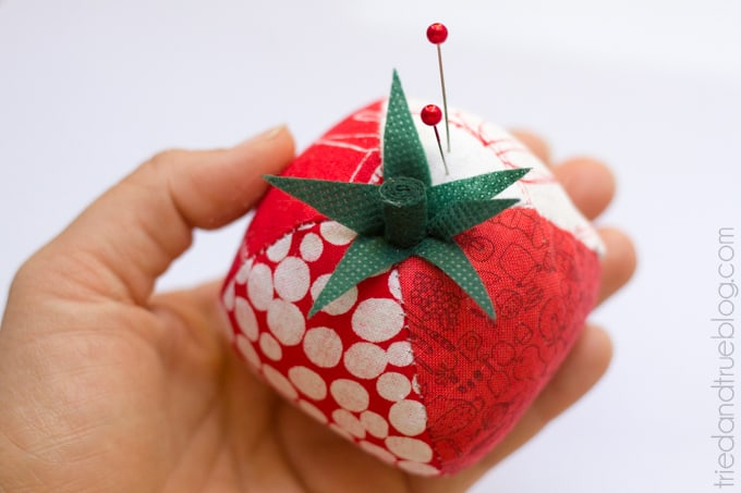 Quilted Tomato Pin Cushion - Cute