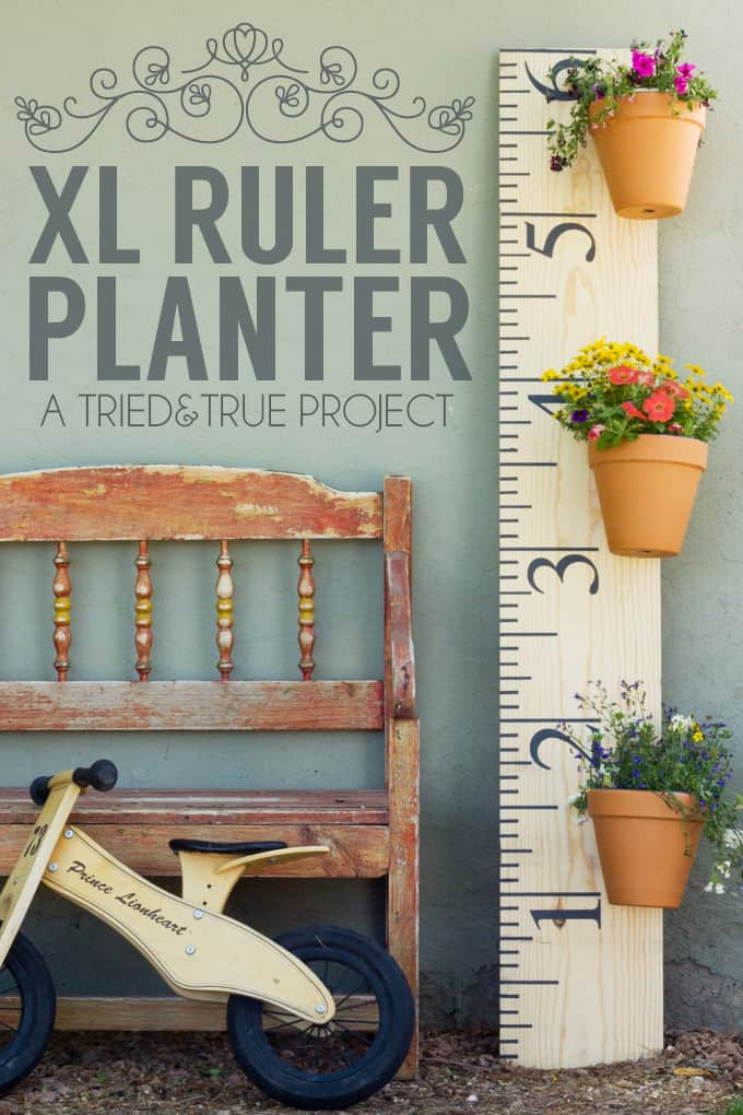 Make this XL Ruler Planter, the perfect decoration for your yard! You can even keep track of your kids' heights to enjoy for years to come!