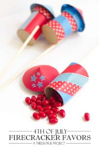Super easy to make and decorate for a fun 4th of July Favor!