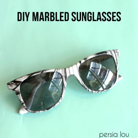 Update an old Summer accessory with this easy tutorial for DIY Marbled Sunglasses written by Persia Lou for Tried & True