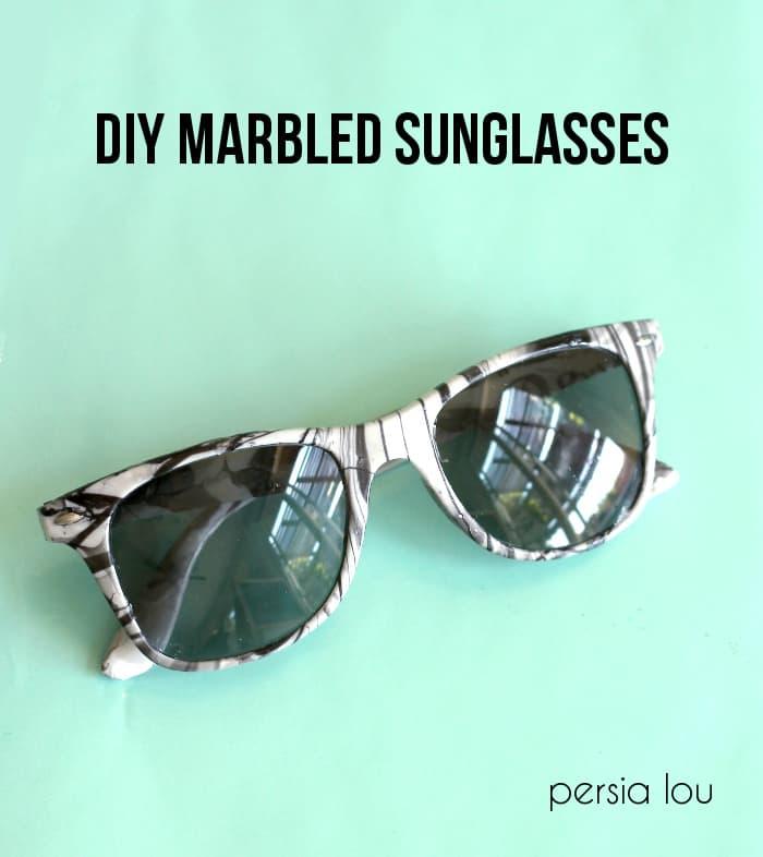 DIY marbled sunglasses 3
