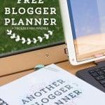 Totally Free Blog Planner