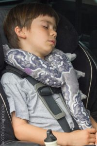 Monster Tail Kid's Travel Pillow - Use