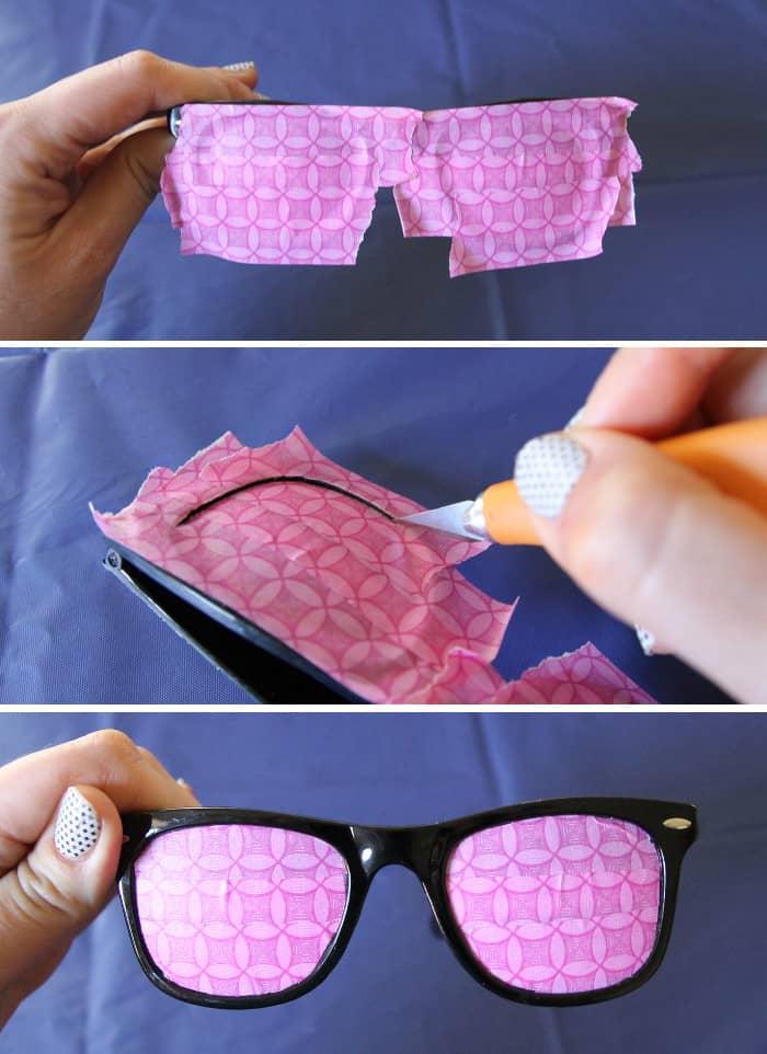 marbled sunglasses step 1