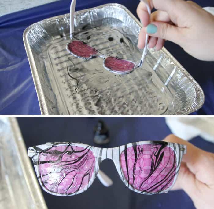marbled sunglasses step 3