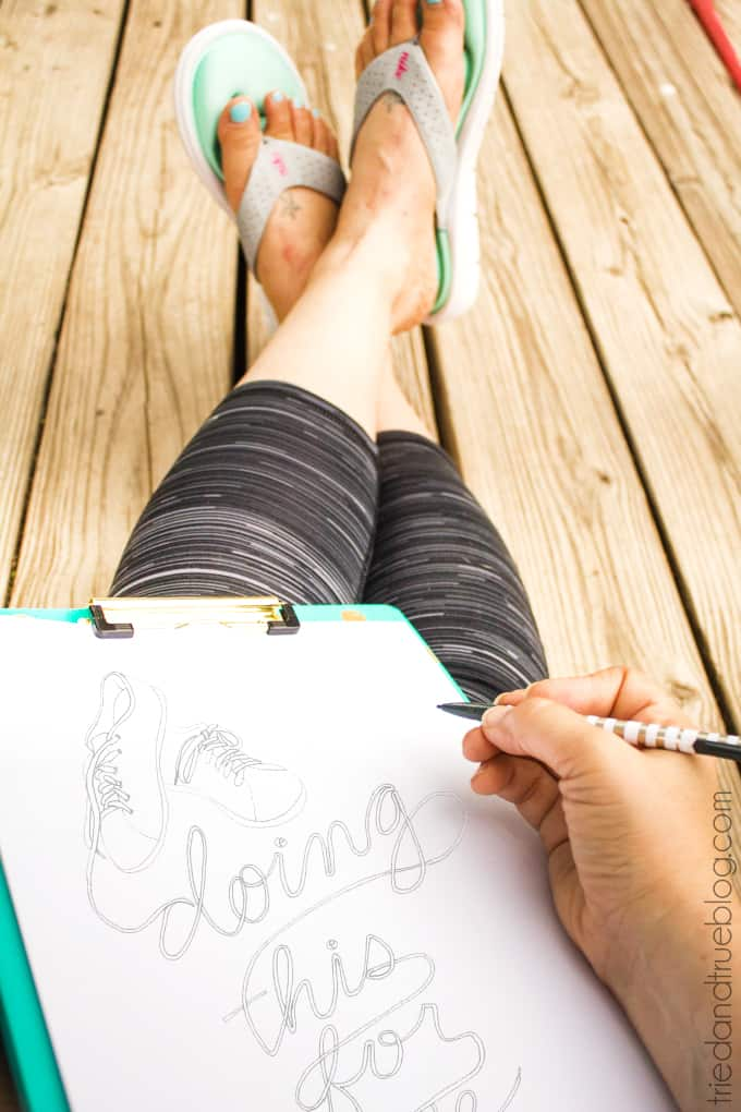 """""""Doing This For Me"""" Coloring Page - Drawing"""